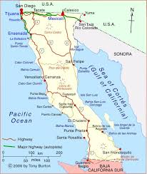 map of mexico and california clickable interactive map of baja california state mexico