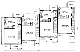 Multi Unit Apartment Floor Plans Multi Family Plan 45352 At Familyhomeplans Com
