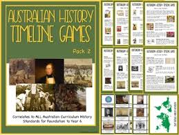 australian history timeline cards and activities pack 2 tpt