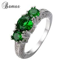 s day birthstone rings bamos 925 sterling silver filled may birthstone rings for women