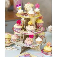 truly scrumptious vintage tea party cake stand talking tables