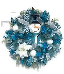blue silver white wreath blue and white deco mesh