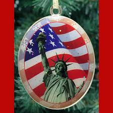 statue of liberty flag new york ornament ny