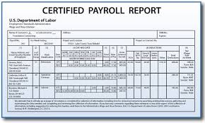 Construction Estimating Certification by Certified Payroll Reporting Requirements For Construction
