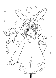 sakura anime coloring pages for kids printable free coloring