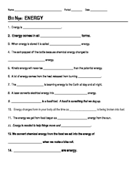 this 14 question worksheet provides a way for students to follow