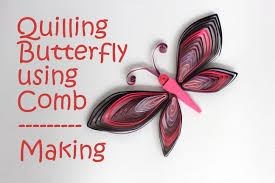 colorful quilling butterfly tutorial comb