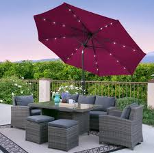 Patio Umbrella Led Lights by 10 Foot Solar Led Patio Umbrella Just 49 99 Shipped Regularly