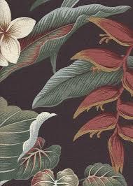 Upholstery Weight Fabric Waipahe U0027e Tropical Hawaiian Heliconia U0026 Plumeria Flowers Cotton
