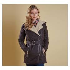 barbour lifestyle barbour aspley asymmetric wax jacket rustic