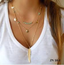 leaf chain necklace images Multi layer leaf chain bohemian choker jewelry body chain JPG