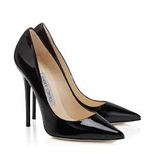 black patent leather pointy toe designer pumps anouk jimmy choo