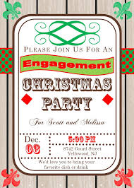 christmas holiday engagement party invitations 2017