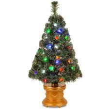 national tree company 4 ft fiber optic evergreen flocked