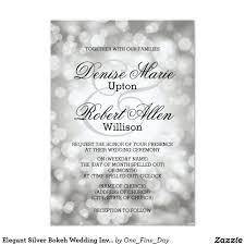 elegant silver bokeh wedding invitation save the date