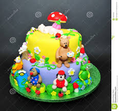 two tier fondant cake for baptism celebration stock photo image