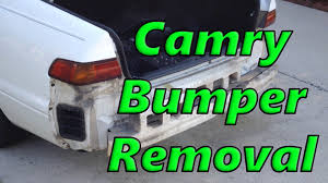 1999 toyota camry front bumper 1998 camry rear bumper removal