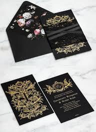 wedding invitation kits black and gold wedding invitations wedding corners