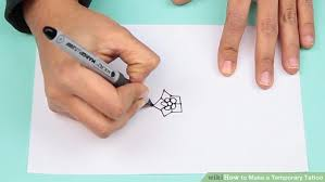 4 ways to make a temporary tattoo wikihow