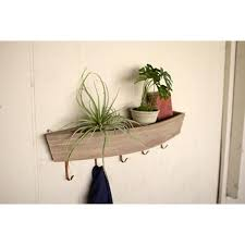wooden boat shelf and hooks at seasideinspired