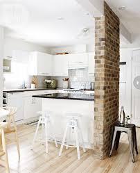 brick kitchen ideas kitchen scandinavian kitchen with brick wall divider 20