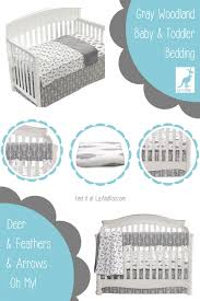 gray woodland baby bedding liz and roo