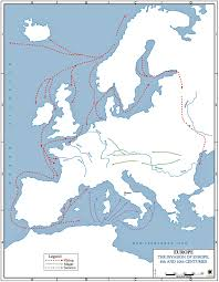 Blank Physical Map Of Europe by History Map Archive 501 1200