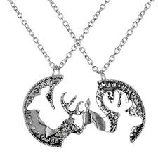 coin necklace vintage images Pack of 2 vintage silver coin stag deer couple jpg