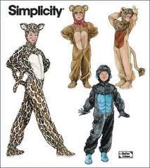 Gorilla Halloween Costumes Simplicity 2855 Child Gorilla Lion Bear Cat Costumes