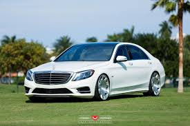 mercedes s550 pictures renntech mercedes s550 gets the stance and vossen wheels