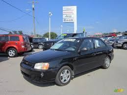 hyundai accent 4 door sedan 2002 black hyundai accent gl sedan 68889857 gtcarlot com