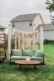 a pretty backyard baby q baby shower the little umbrella
