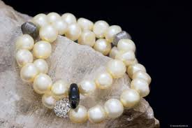yellow pearl bracelet images Golden yellow freshwater pearl bracelet handcrafted by montreal jpg