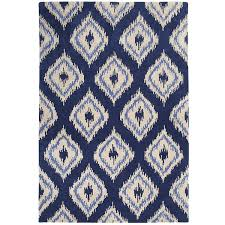 ikat diamond rug 8x10 navy pier1 us rugs pinterest rugs