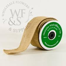 wired ribbon decorative burlap wired ribbon 10 yards wholesale