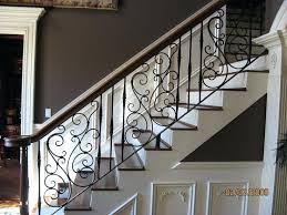 painting metal stair rails best iron railing ideas on case pretty swirly wrought paint staircase