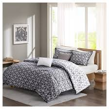 Northern Lights Comforters Gianna Geometric Cotton Comforter Set 5 Piece Gray Target