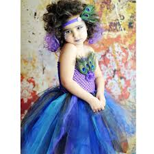 Peacock Halloween Costume Kids Aliexpress Buy Peacock Feather Tutu Dress Birthday