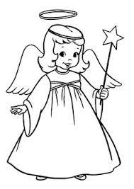 christmas angels coloring print kids printable