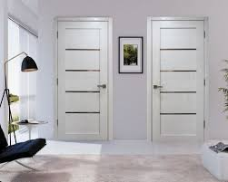 Frosted Interior Doors by Palermo Modern Interior Door W Frosted Glass White Ash Finish