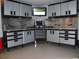 Heavy Duty Storage Cabinets Captivating Plastic Garage Storage Cabinets From Stanley Plastic