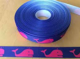 whale ribbon blue whale grosgrain ribbons 7 8