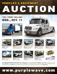 wednesday october 11 vehicles and equipment auction purple