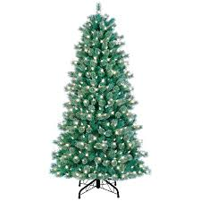 shop ge 7 ft pre lit artificial tree with white