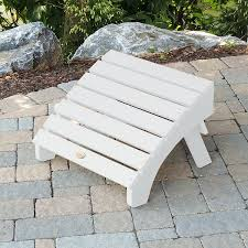 Synthetic Wood Patio Furniture by Amazon Com Highwood Folding Adirondack Ottoman White Garden