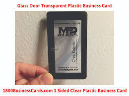 clear buisness cards plastic business card of the week glass door the printing corner