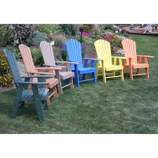 Outdoor Adirondack Chairs A U0026amp L Furniture Recycled Plastic High Seat Adirondack Chair