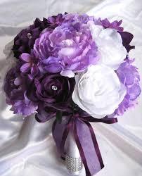 wedding flowers lavender wedding bouquet bridal silk flowers decoration plum purple