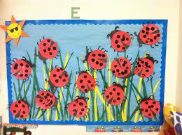 ladybug art spring bulletin board preschool craft threes 3