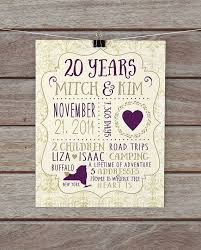 best 25 20 year anniversary gifts ideas on 10 year